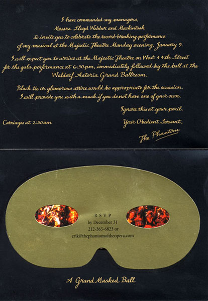 Masked Ball Invitations with great invitation example