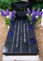 Maria's grave - click to enlarge